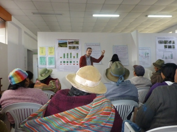 Conversación con la comunidad sobre ensayo de opciones promisorios 2 de pasto en Colpar, Peru